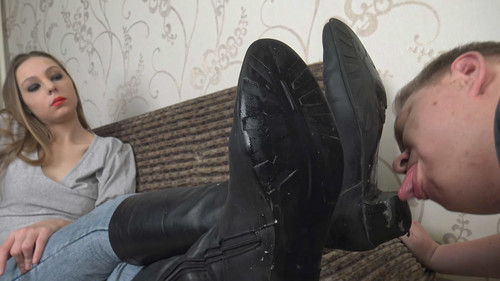 Angela - boots worship Full HD