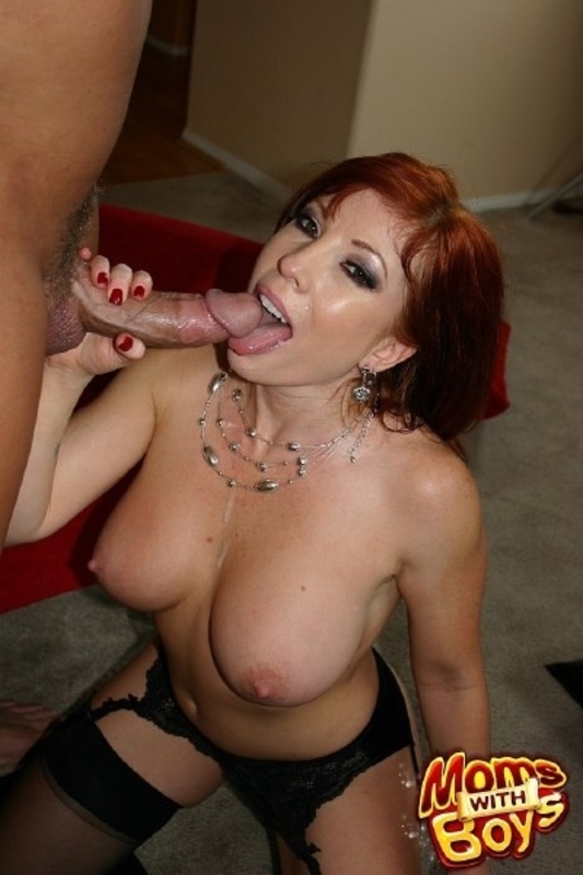 Redhead mom brittany o039connell pierced pussy in stockings